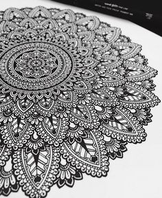 Progress shot. #mandala with UniPin 0.1mm Fine Line. ✒️ #murderandrose