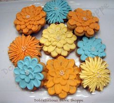 Fall Mum Flower Cookies | Cookie Connection