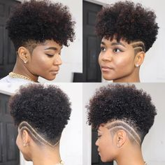 ~ Your tapered natural hair is truly a beautiful statement piece. Accentuate your tapered curly mohawk style with a chic design element…