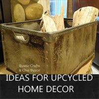 upcycled home decor ideas by rustic-crafts.com