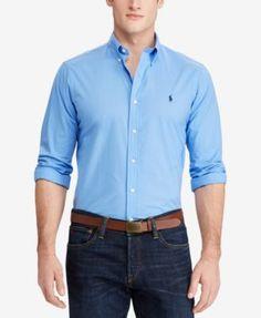 POLO RALPH LAUREN Polo Ralph Lauren Men'S Slim Fit Long-Sleeve Shirt. #poloralphlauren #cloth #down shirts