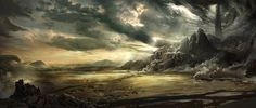 Matte Painting by Gordon Waltho, via Behance