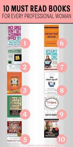 My favorite career and entrepreneurship books | Classy Career Girl