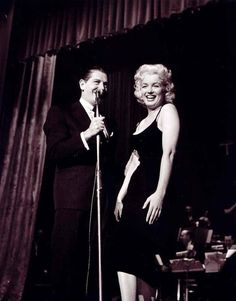 Marilyn Monroe and Milton Berle at the Newspaper Public Convention, 1955
