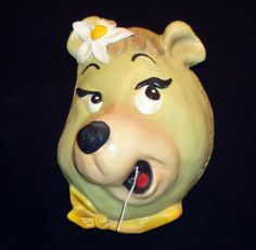 Vintage Cindy Bear String Holder (Hanna-Barbera Productions) #HannaBarberaProductions