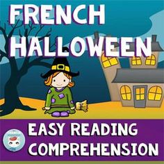BoomLearning.com - Amazing authors make awesome learning content! Easy reading comprehension cards: kids read a sentence and decide if it's true or false. Illustrations support understanding,  A great way to introduce your students to understanding longer, more complex texts. Vocabulary is Halloween-related (in French.)  Students will : – improve their comprehension by reading simple sentences and deciding whether they're true or false – work on their critical thinking skills by choosing the…