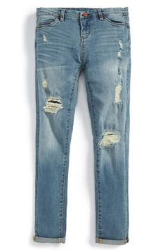 BLANKNYC 'Rip & Repair' Boyfriend Jeans (Big Girls) available at #Nordstrom