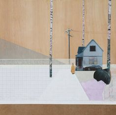 Enjoy the wonderful mixed media artworks realised by the UK artist Mairi Timoney. I love how she combines a pure minimal style, surreal landscapes and some delicate pastel colours shades. Collage Sculpture, Painting Collage, Paintings, Mixed Media Artwork, Mixed Media Collage, Collages, London Art, Color Shapes, Illustrations