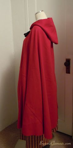 Intro: Mid 18th to early 19th century red wool cloak
