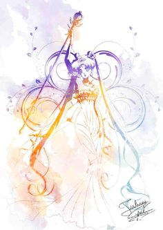 Simple yet colorful. This Sailor Moon art by Crisis-Cissou combines various colors in gradient giving the character life and at the same time keeping the entire drawing clean. - The magic that Sailor Moon brings <3 <3