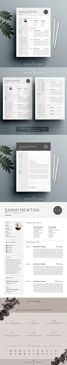 Female Resume Template Resume and Jobs Pinterest Template
