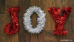 A Bubbly Life: Garland Letter Christmas DIY