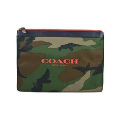 Coach Nylon Multifunction Skinny Cosmetic Case 63445 ($85) ❤ liked on Polyvore featuring beauty products, beauty accessories, bags & cases, classic camo, purse makeup bag, dop kit, toiletry kits, wash bag and coach makeup bag