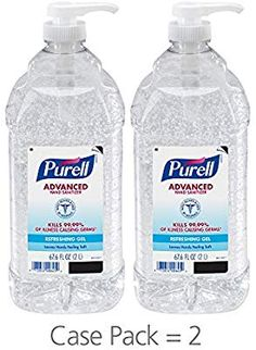 Shop the latest collection of PURELL Advanced Hand Sanitizer, Refreshing Gel, 2 Liter Hand Sanitizer Table Top Pump Bottles (Pack - from the most popular stores - all in one place. Household Cleaning Tips, Cleaning Hacks, Cleaning Supplies, Emergency Supplies, Best Hand Sanitizer, Disinfectant Spray, Disinfecting Wipes, Advanced Skin Care, Food Storage