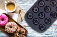 The Chefast mini donut pan is coated with chemical-free silicone coating, providing easy release and easy cleanup. This set will make your time in the kitchen fun, easy, and problem-free. Click the image above to know the details of this good quality mini donut pan set by Chefast.