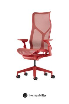 Create a comfortable, beautiful office with Cosm—now available with height-adjustable arms in the chair's signature Dipped-in-Color aesthetic. Ideal for spaces across the floorplan—from collaborative settings to individual workstations—this office chair comes in six colors. Choose from three saturated Dipped-in-Color options or three neutrals to brighten office workspaces. Sayl Chair, Comfortable Office Chair, Home Office Chairs, Ergonomic Chair, Modern Desk, Chair Pads, Workspaces, Herman Miller, Little Houses