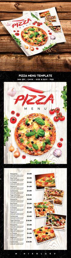Pizza Menu Template PSD. Download here: http://graphicriver.net/item/pizza-menu-template/15435424?ref=ksioks