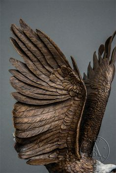 This large bronze eagle by Jules Moigniez is the finest eagle sculpture available. Steel Sculpture, Sculpture Clay, Wood Carving Art, Wood Art, Wings Drawing, Eagle Wings, Bronze, Famous Art, Bird Pictures