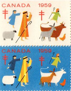 Leena, our Postationist Elf, can tell that Christmas in Canada is a little bit like Christmas in the North Pole. It's very snowy and the ground sparkles like a winter wonderland. She watches the kids ice-skating on frozen lakes and write Christmas cards to their friends at school. (Stamp: Canada 1959)