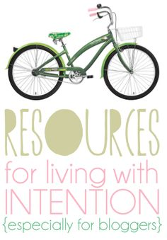 Intentional living...LOVE it!!!