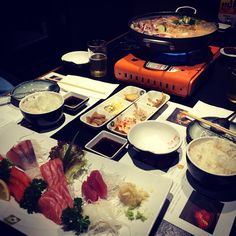 Dinner for two. Korean & Japanese