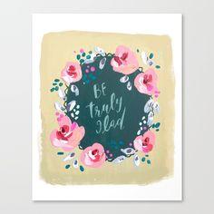 Floral painting   Scripture art   Boho florals   Christian artwork   hand lettering - $85.99