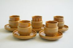 Vintage Italian Demitasse Set  / Cups with by InteriorContent