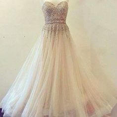 2017 Custom Made Charming White Prom Dress,Sweetheart Prom