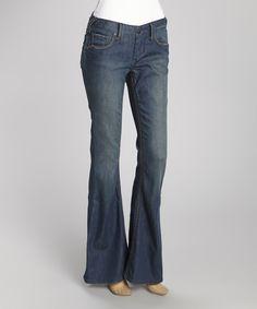Love this Stitch's Blue Wide-Stitch Hav Flare Jeans by Stitch's on #zulily! #zulilyfinds