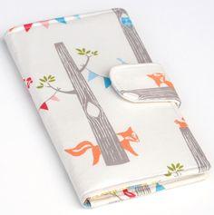 Fox Wallet Bifold Organic Fabric Woodland by BrooklynLoveDesigns, $45.00