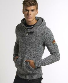 Superdry Ski Dog Hooded Henley - Men's Hoodies