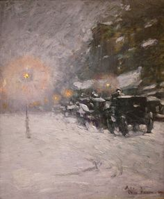 Frederick Childe Hassam (1859-1935), Winter, Midnight - 1894