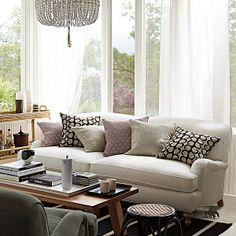Linen Claribel Sofa   Living Room Design U0026 Inspiration   Pinterest    Linens, House And Living Rooms
