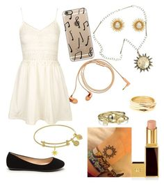 """""""Child of Apollo."""" by gracenerada ❤ liked on Polyvore featuring Topshop, Happy Plugs, Casetify, Chanel, Tom Ford, Bling Jewelry and Repossi"""