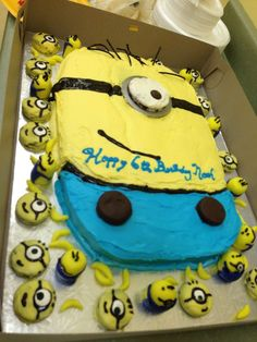 minion birthday cake | Minion birthday cake with minion oreos