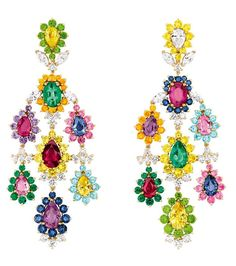 Cher Dior Exquise sapphire earrings