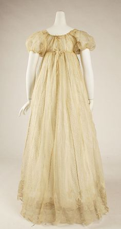 Dress Date: 1804–14 Culture: French Medium: [no medium available] Dimensions: Length: 54 in. (137.2 cm)