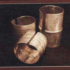Traditional Libyan silver bangels ( DBALEJ )