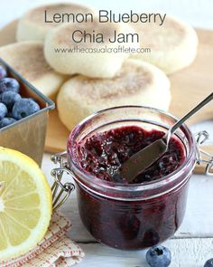 Lemon Blueberry Chia Jam by www.thecasualcrafltete.com