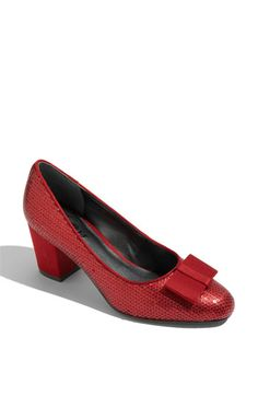 This are a sensible version of Dorothy's Ruby slippers taht you can wear to your day job. Trotters 'Jillian' Pump Nordstrom