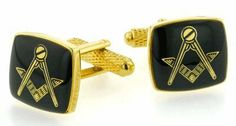 Square black enamel Masonic cufflinks with presentation box Cufflinks House. $29.99. Quality craftsmanship and superb styling. Presentation boxed. Save 50%!