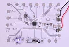 Picture of Paperduino 2.0 with Circuit Scribe - Paper Arduino