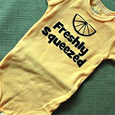 Create a fun, humorous newborn onesie for the newest addition in your life! Options for personalization are endless.