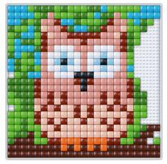 #pixel #gift #pixel.gift #pixelhobby #pixelen #xl #creatief #knutselen #doe-het-zelf #uil #owl #bird #vogel