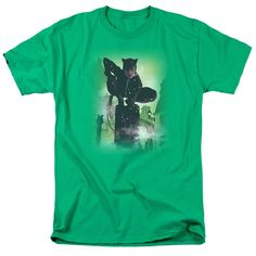 Batman/Catwoman #63 Cover Short Sleeve Adult T-Shirt 18/1 in Kelly