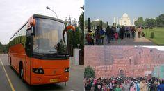 Dellhi to Agra Bus Tour, Delhi Agra Bus tour, delhi to agra bus service, same day agra tour by bus, delhi to agra volvo bus service, agra bus service