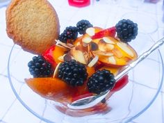 Frankiz Bird | Nectarines abricots mûres amandes grillés
