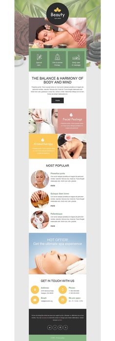 Spa Accessories Responsive Newsletter Template - Email Template - Ideas of Email Template - Spa Accessories Responsive Newsletter Template Newsletter Design Templates, Email Template Design, Web Design Software, Email Templates, Email Design, Edm Template, Design Design, Newsletter Layout, Email Newsletter Design