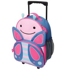 Buy Skip Hop: Zoo Kids Rolling Luggage online and save! Skip Hop: Zoo Kids Rolling Luggage – Butterfly Zoo friends roll along for travel fun! Sized perfectly for carry-ons and overnight trips, Zoo luggage. Cute Luggage, Best Luggage, Carry On Luggage, Kids Rolling Luggage, Kids Luggage, Puppy Backpack, Diaper Backpack, Diaper Bag, Baby Essentials