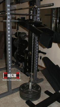 Homemade Calf Raise Machine. Attach this to any power rack.